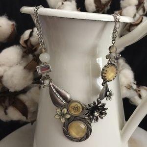 Anthropologie Silver Statement Necklace